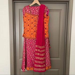 Silk Embroidered Lehenga